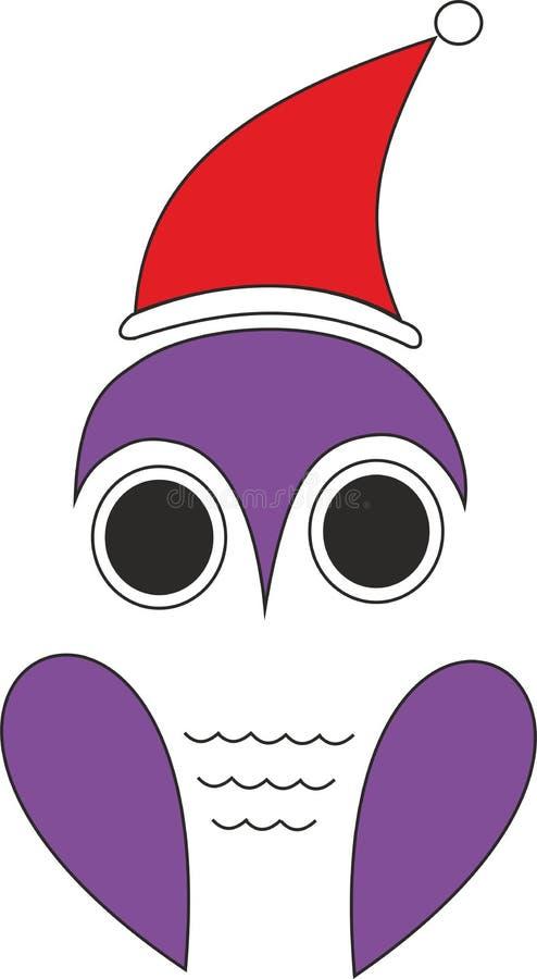 Hibou avec Santa Hat images stock