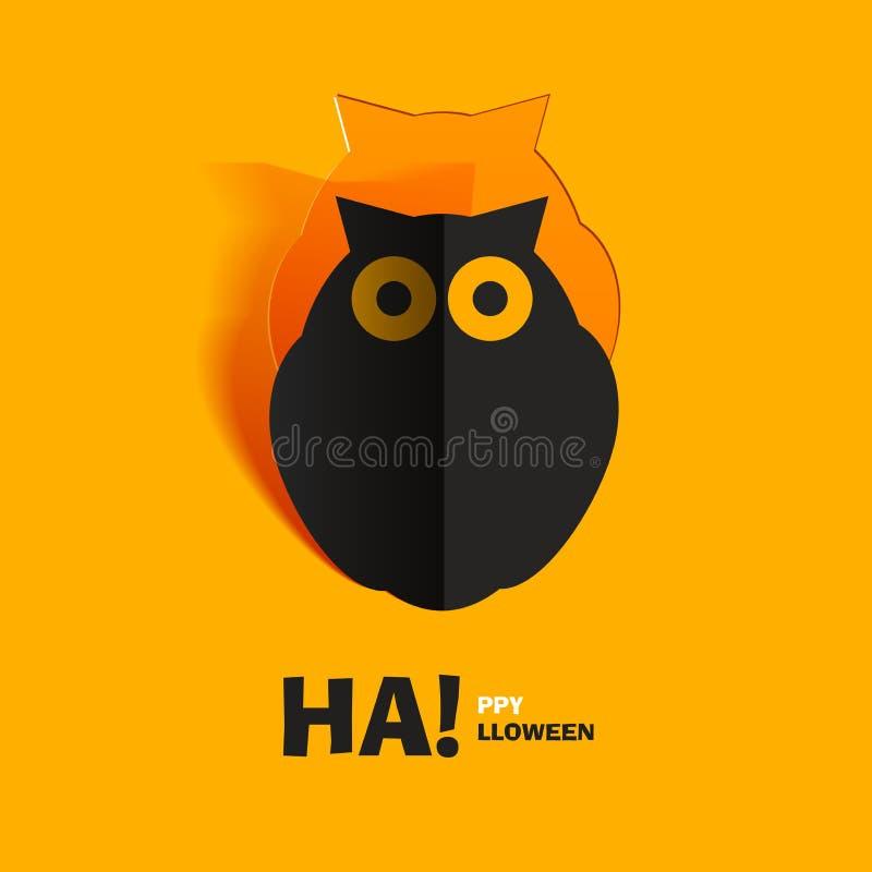 Download Hibou coupé du papier illustration de vecteur. Illustration du salutation - 45357908