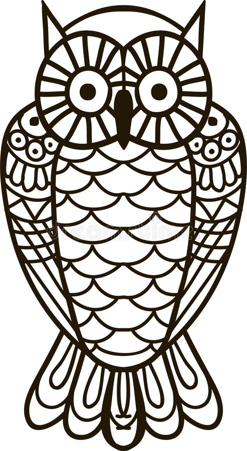 Hibou d'isolement image stock