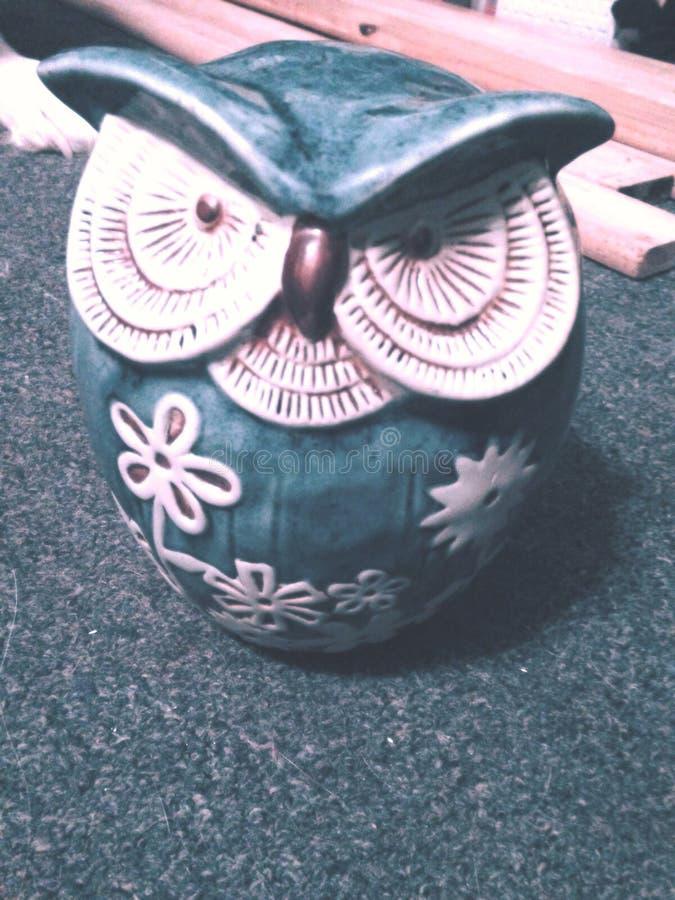 Hibou en céramique images stock