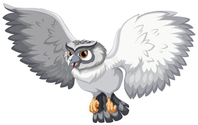 Hibou gris illustration de vecteur