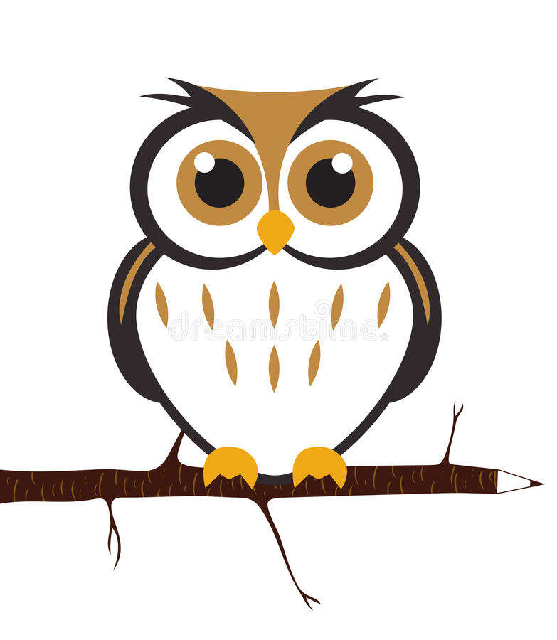 Hibou mignon de vecteur illustration stock