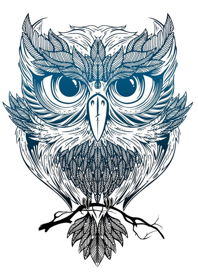 Hibou mystique illustration stock