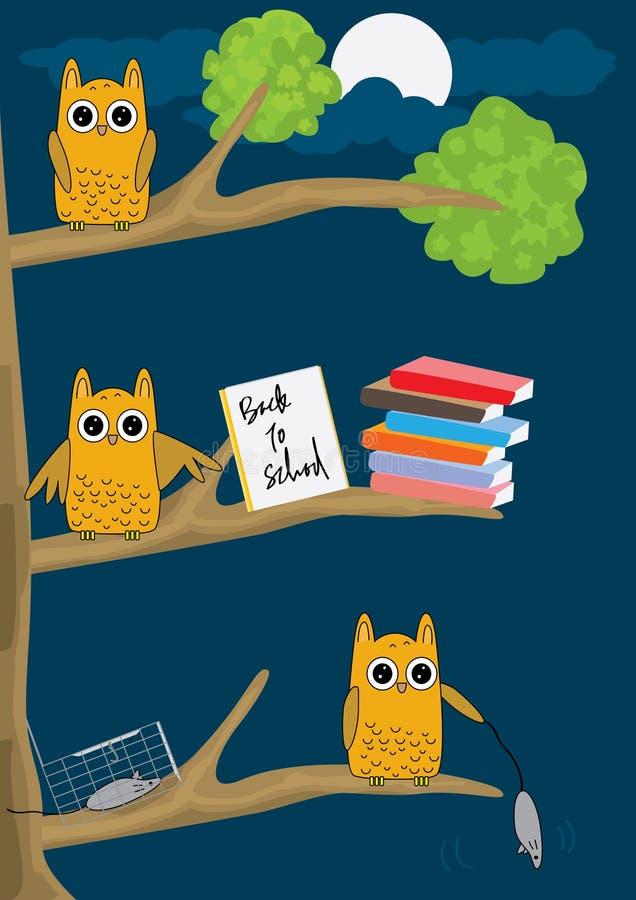 Hibou Night_eps illustration libre de droits