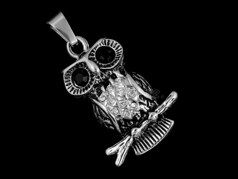 Hibou pendant de collier image stock