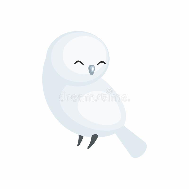 Hibou polaire mignon illustration de vecteur