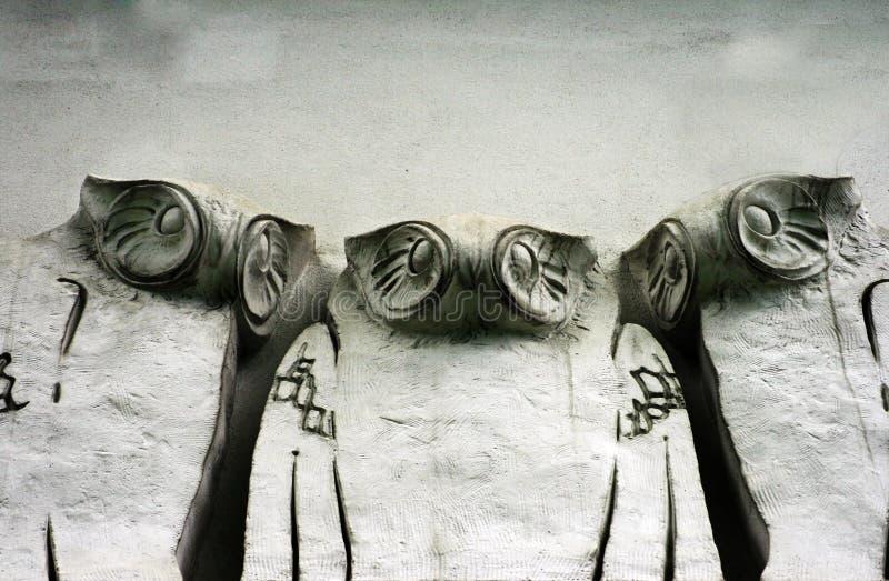 Hiboux de grunge de Jugendstil image libre de droits