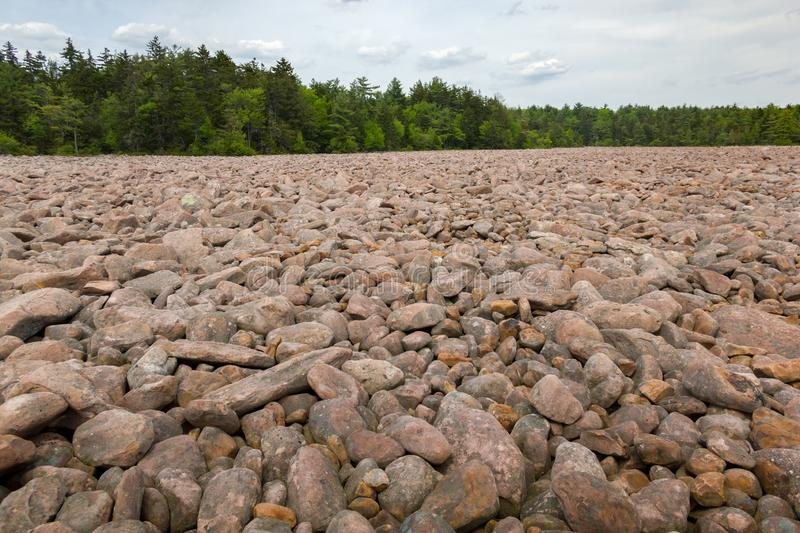 Hickory Run State Park Boulder Field, Lake Harmony, Pennsylvania, United States of America. Hickory Run State Park Boulder Field, Lake Harmony, Pennsylvania, USA royalty free stock photo