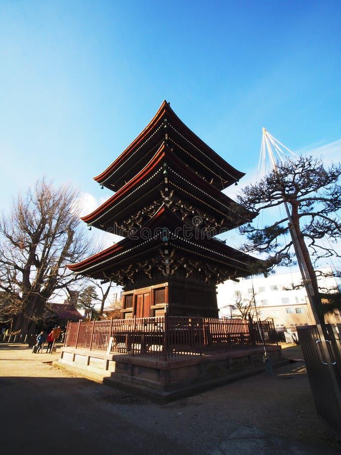 Hida国分寺市寺庙在高山市,岐阜 免版税库存图片