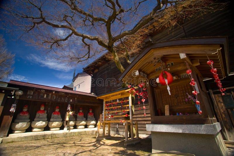 Hida Kokubunji shrine in Takayama stock image