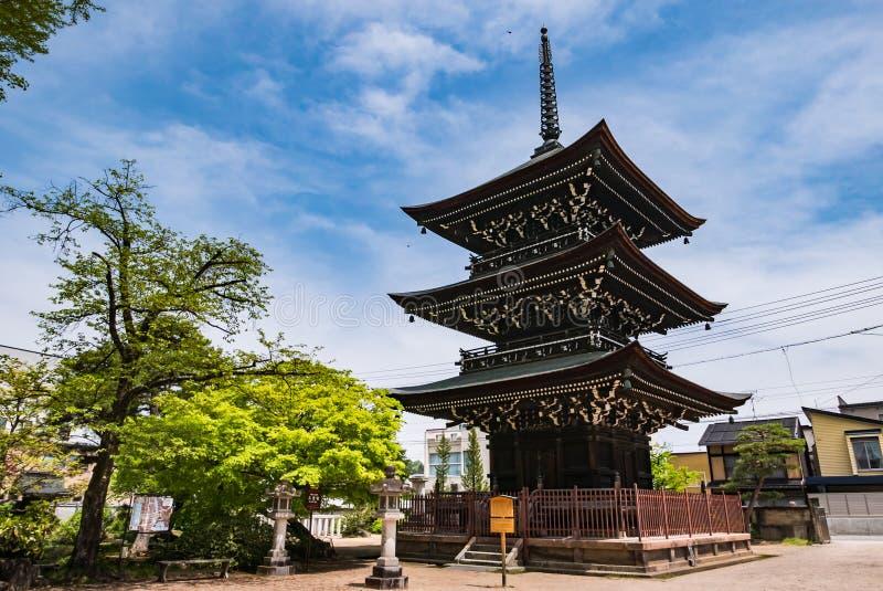 Hida Kokubunji tempel, Takayama, Japan fotografering för bildbyråer