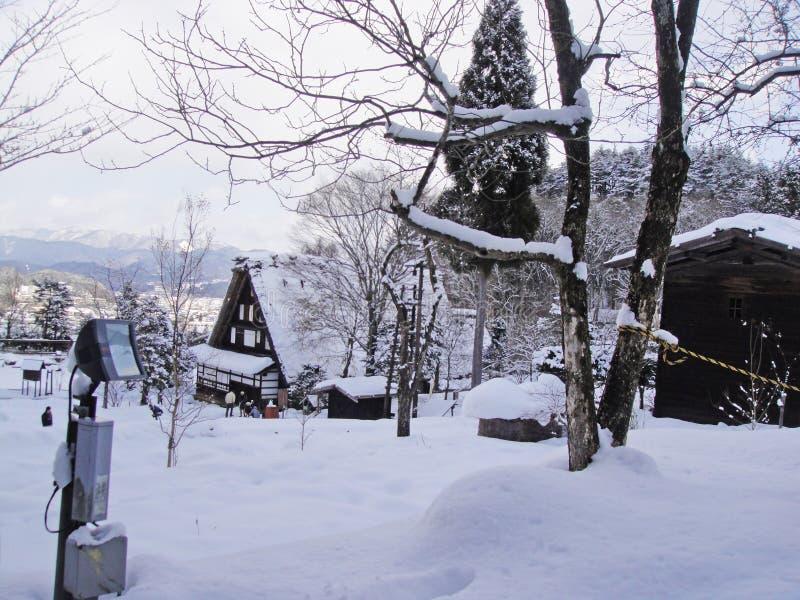 Hida Minzoku Mura Folk Village. In Hida stock photography