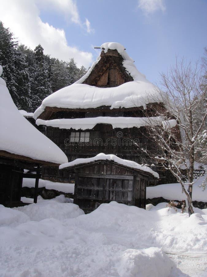 Hida Minzoku Mura Folk Village. In Hida royalty free stock image