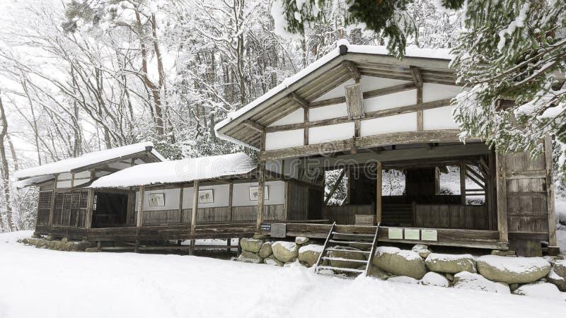 Hida ningún sato en invierno foto de archivo