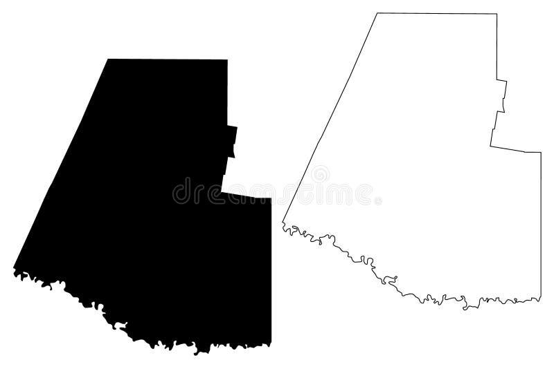 Hidalga okręg administracyjny, Teksas okręgi administracyjni w Teksas, Stany Zjednoczone Ameryka, usa, U S , USA mapy wektorowa i ilustracji