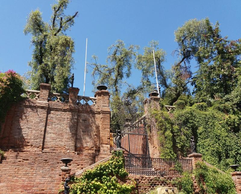 Hidalgo-Schloss-St. Lucia Park lizenzfreie stockfotos