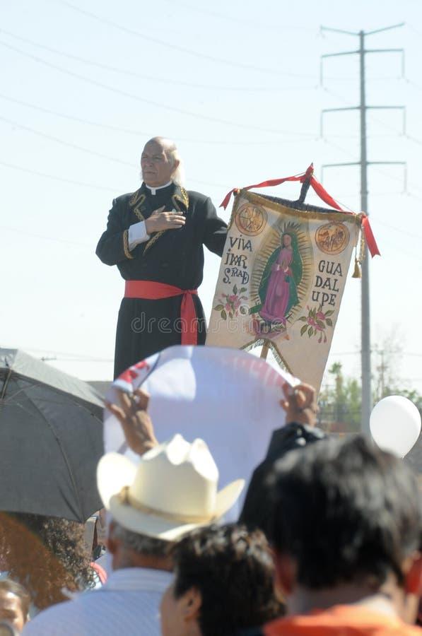 hidalgo uosabia mężczyzna Miguel protest fotografia stock
