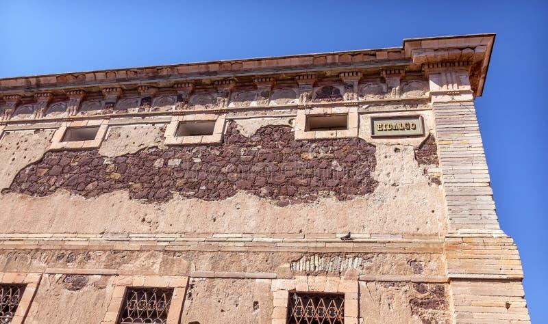 Hidalgo Window Alhondiga de Granaditas Guanajuato México fotografía de archivo