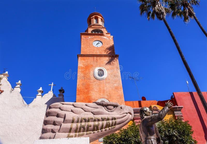 Hidalgostandbeeld Liberty Road Sanctuary van Jesus Atotonilco Mexico stock afbeeldingen