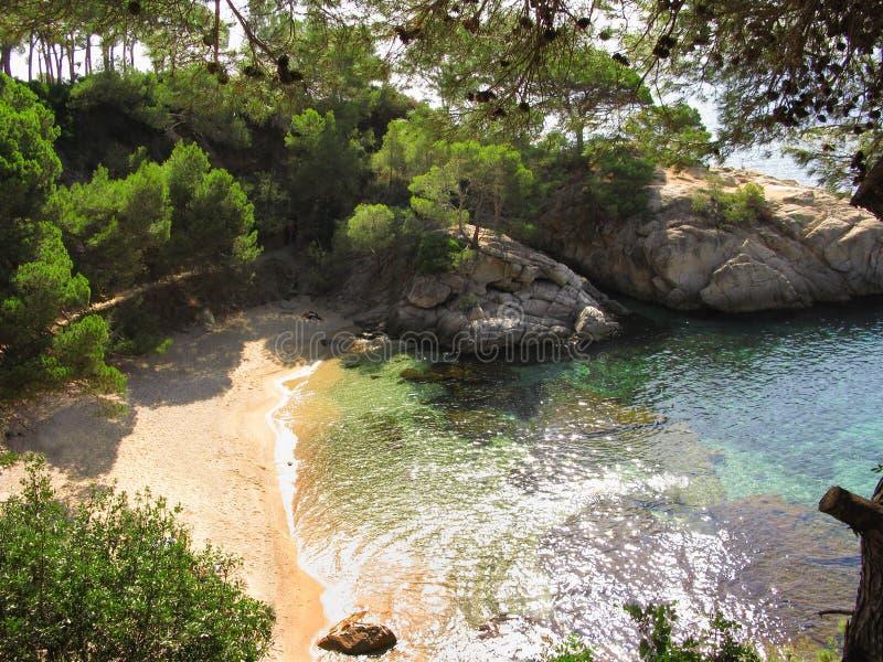 Hidden beach cove or lagoon royalty free stock image