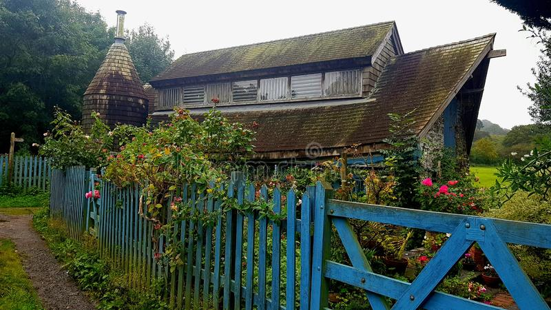 Hidden buildings in plymouth Devon. There are 100s of hidden buildings scattered around the english countryside that are  looked  the beaten track , this  in stock image