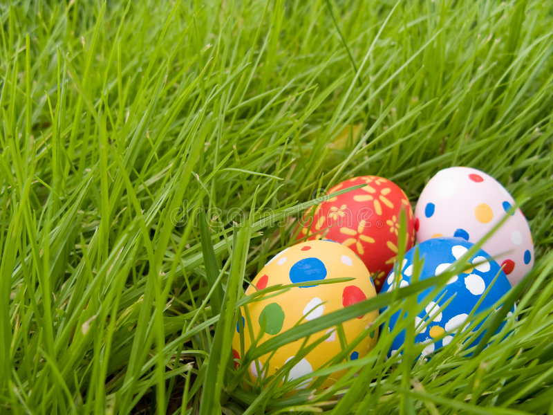 Hidden easter eggs royalty free stock photography