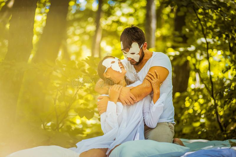Hidden face love. royalty free stock photo