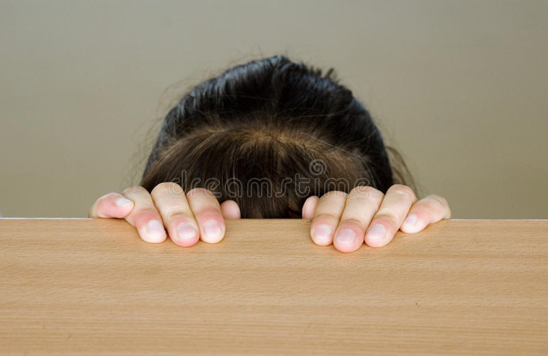 Hidden head of girl royalty free stock photos