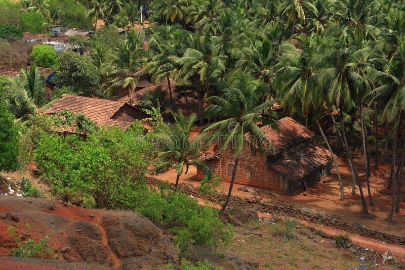 Hidden houses in rural India stock images