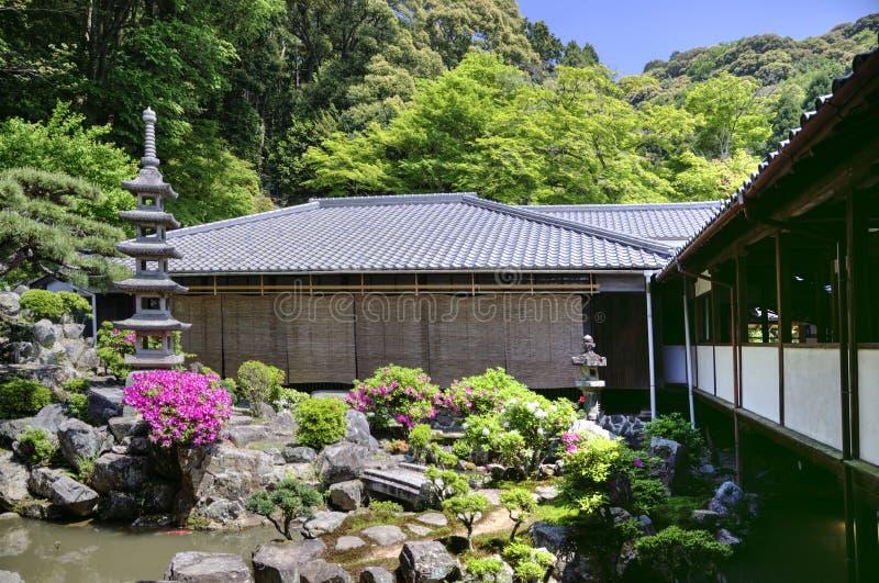 Japanese zen garden in Koshoji temple, Uji, Japan royalty free stock photos