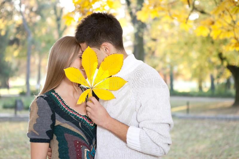 Download Hidden kiss stock image. Image of dating, autumn, loving - 24783949