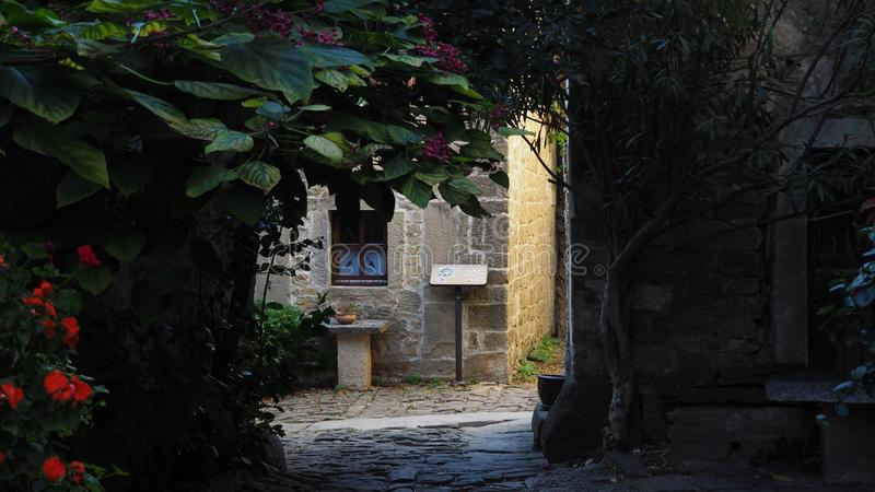 Hidden passage in Groznjan royalty free stock photos