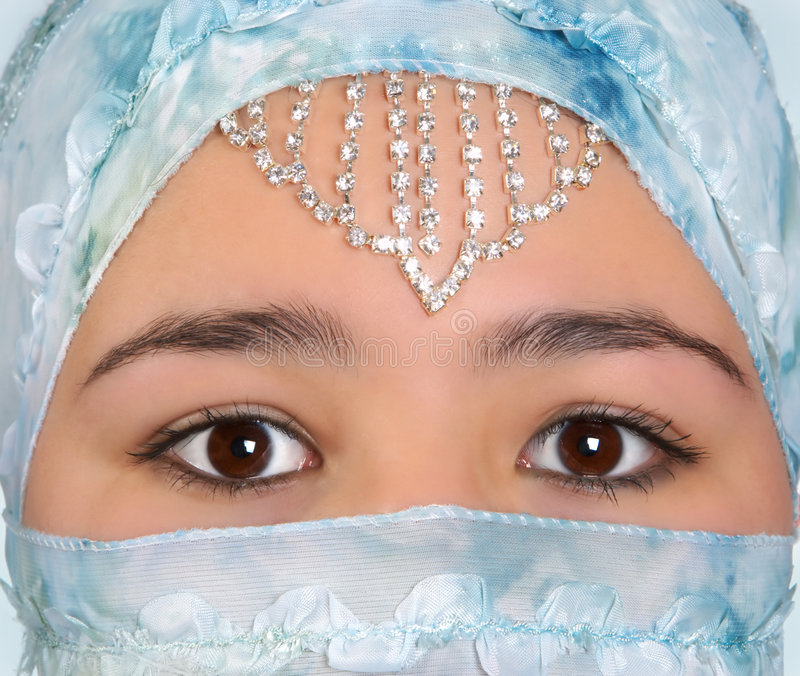 Download Hidden in silk stock photo. Image of jewelry, mask, culture - 2317642