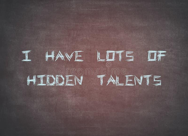 Hidden talents skills leadership ambition typography stock photography