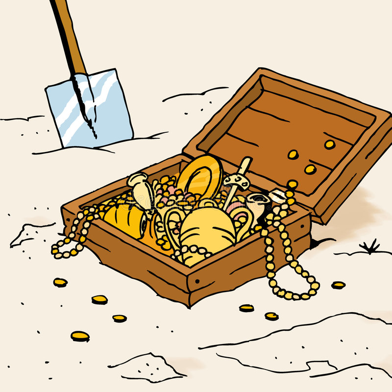 Hidden treasure royalty free illustration