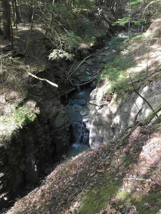 Hidden Waterfall, Belfast NY royalty free stock image
