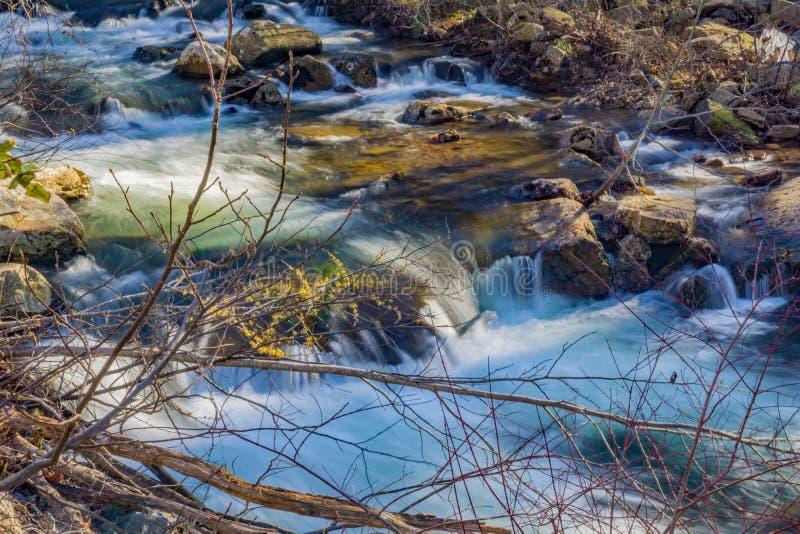 Hidden Wild Mountain Trout Stream. A hidden wild mountain trout stream located in Jefferson National Forest, Giles County, Virginia, USA stock photography