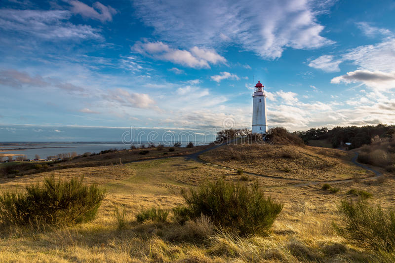 Hiddensee, Germany. Winter afternoon on the Island of Hiddensee, Germany royalty free stock photos