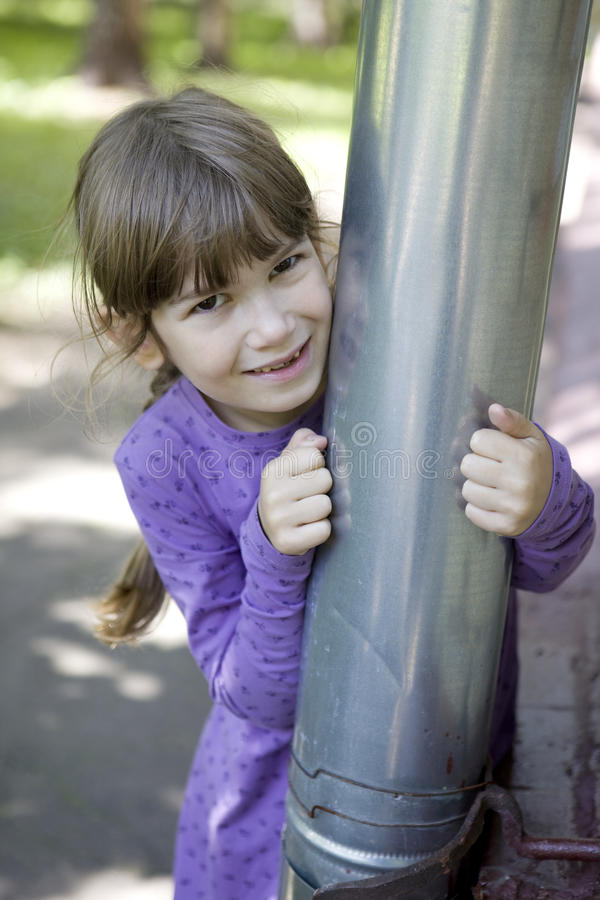 Download Hide-and-seek. stock photo. Image of jovial, pipe, game - 10797888