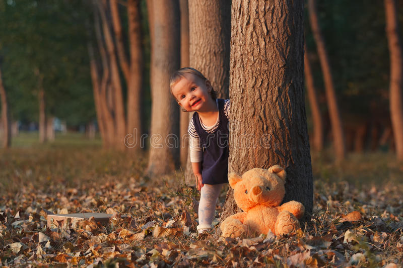 Hide and seek royalty free stock photo