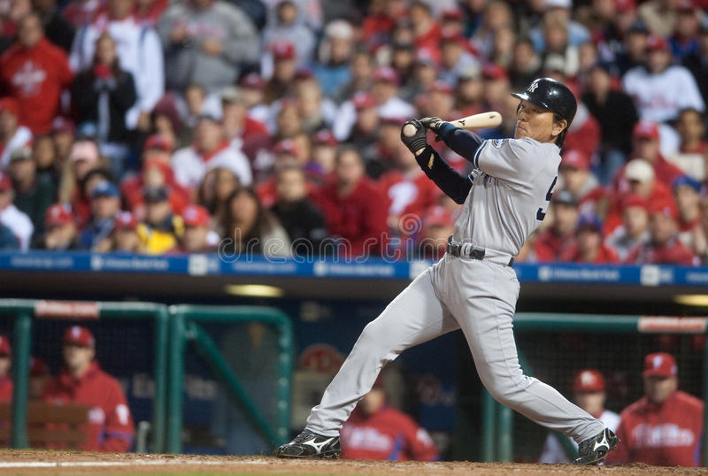 Hideki Matsui. Outfielder, New York Yankees royalty free stock photo