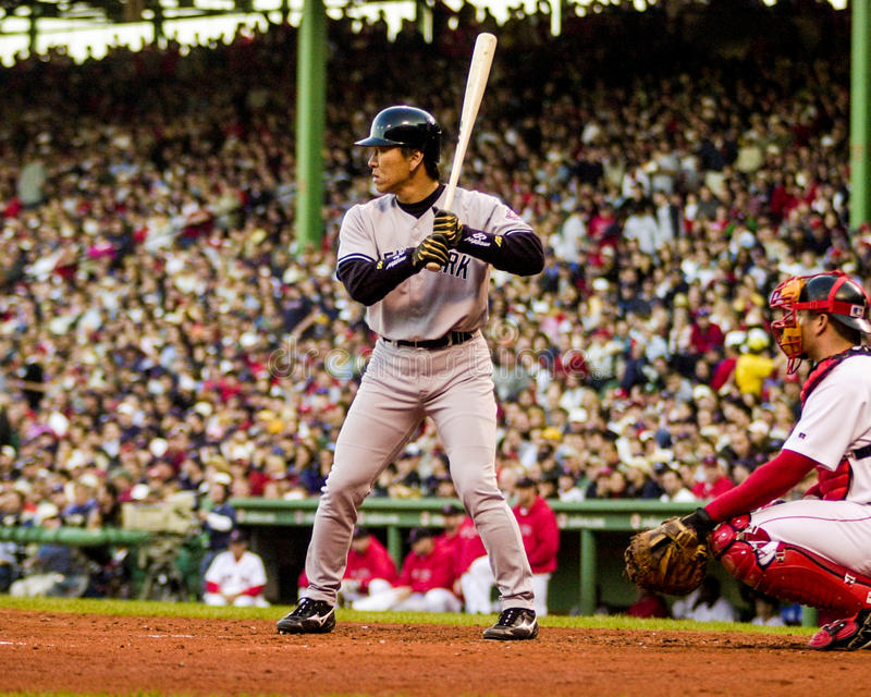 Hideki Matsui, New York Yankees fotografia stock libera da diritti