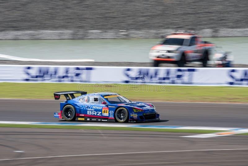 Hideki Yamauchi van R&D-SPORT in de Categorie van GT300 Qualiflying bij 20 stock foto