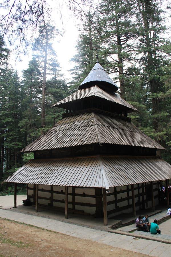 Hidimba Devi Temple stock photography