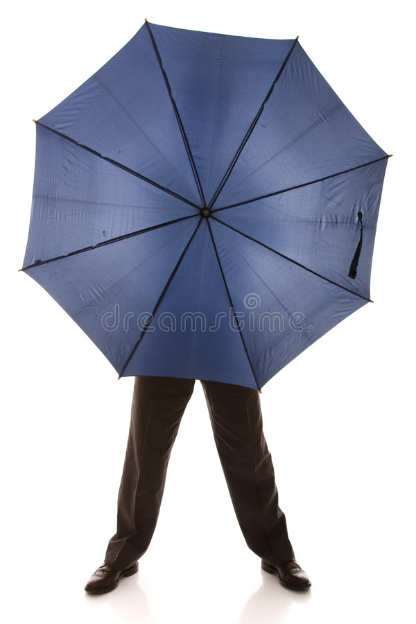 Download Hiding bewind an umbrella stock image. Image of body, protection - 8457281