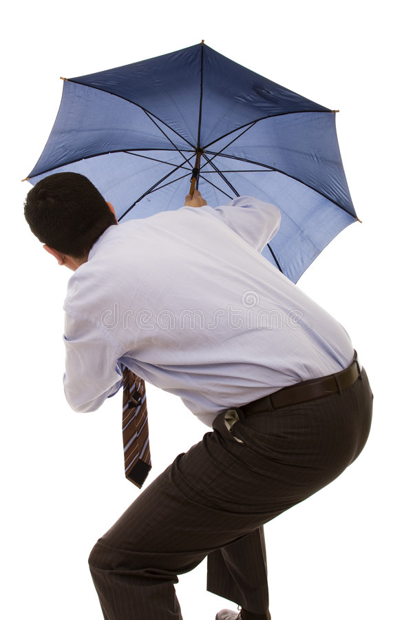 Download Hiding bewind an umbrella stock image. Image of male, protect - 9023097