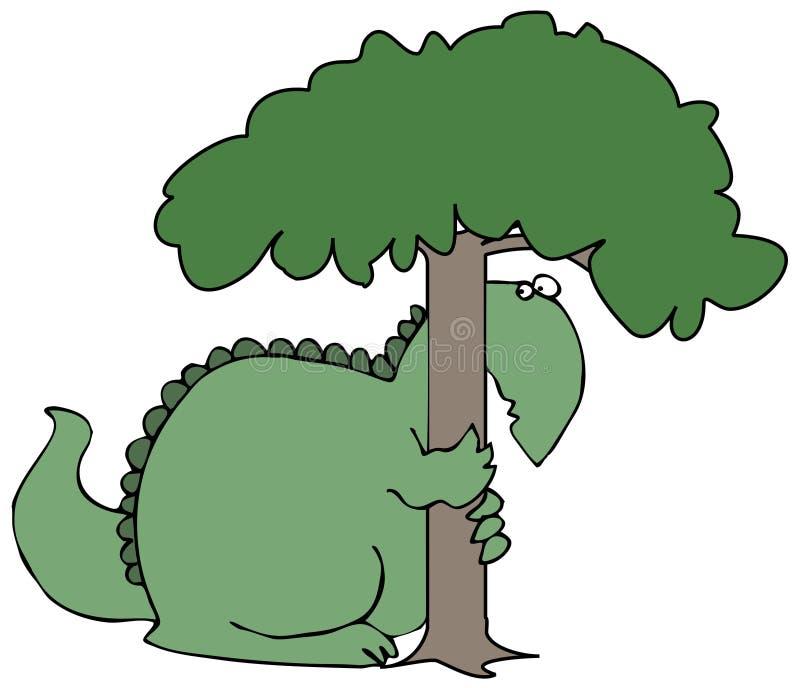 Hiding Dinosaur royalty free illustration