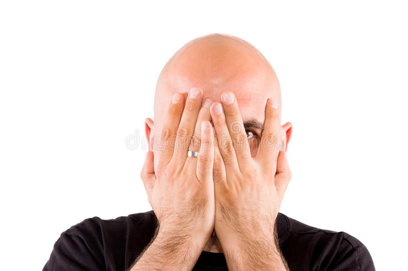 Download Hiding the eyes stock photo. Image of bald, alternative - 25763352