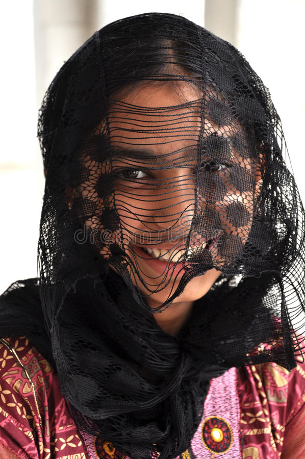 Hiding Girl Stock Photo