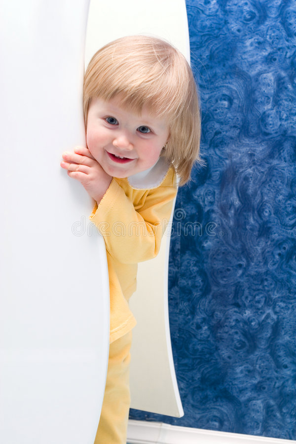 Download Hiding Girl Royalty Free Stock Image - Image: 2102396